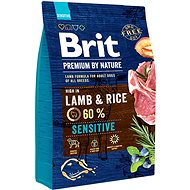 Brit Premium by Nature Sensitive Lamb 3 kg - Granule pro psy