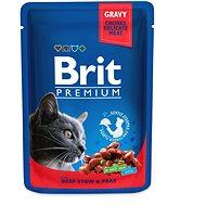 Brit Premium Cat Pouches with Beef Stew & Peas 100 g