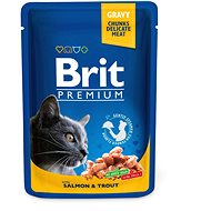 Brit Premium Cat Pouches with Salmon & Trout 100 g - Kapsička pro kočky