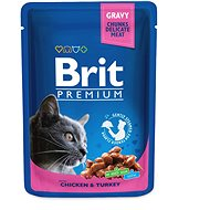 Brit Premium Cat Pouches with Chicken & Turkey 100 g
