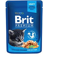 Brit Premium Cat Pouches Chicken Chunks for Kitten 100 g - Kapsička pro kočky