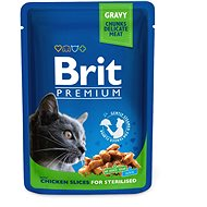 Brit Premium Cat Pouches Chicken Slices for Sterilised 100 g - Kapsička pro kočky