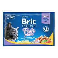 Brit Premium Cat Pouches Fish Plate 400 g (4x100 g)