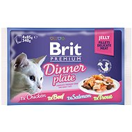 Brit Premium Cat Delicate Fillets in Jelly Dinner Plate 340 g (4 × 85 g) - Kapsička pro kočky