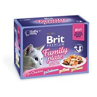 Brit Premium Cat Delicate Fillets in Jelly Family Plate 1020 g (12 × 85 g) - Kapsička pro kočky