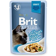 Brit Premium Cat Delicate Fillets in Gravy with Chicken 85 g - Kapsička pro kočky