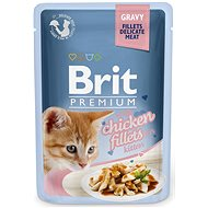 Brit Premium Cat Delicate Fillets in Gravy with Chicken for Kitten 85 g - Kapsička pro kočky