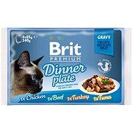 Kapsička pro kočky Brit Premium Cat Delicate Fillets in Gravy Dinner Plate 340 g (4 × 85 g) - Kapsička pro kočky
