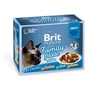 Brit Premium Cat Delicate Fillets in Gravy Family Plate 1020 g (12 × 85 g)