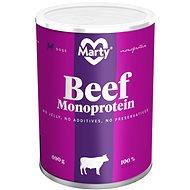 MARTY Monoprotein 100% maso - hovězí 400 g - Konzerva pro psy
