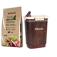 Fitmin cat Purity Dental - 10 kg + Barel na krmivo 10 l zdarma - Sada krmiva