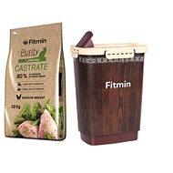 Fitmin cat Purity Castrate - 10 kg + Barel na krmivo 10 l zdarma - Sada krmiva