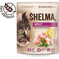 Granule pro kočky Shelma Adult bezobilné granule s čerstvým kuřecím pro dospělé kočky 750 g - Granule pro kočky