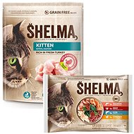 Shelma Granules Junior 750g + Shelma Fillets Selection of Meat and Fish 4 × 85g