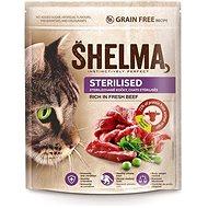 Granule pro kočky Shelma Sterile bezobilné granule s čerstvým hovězím pro dospělé kočky 750 g - Granule pro kočky