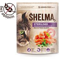Granule pro kočky Shelma Sterile bezobilné granule s čerstvým lososem pro dospělé kočky 750 g - Granule pro kočky