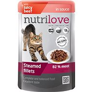 Nutrilove Steamed Fillets with Beef in sauce 85g