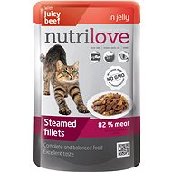 Nutrilove Steamed Fillets with Juicy Beef in jelly 85g