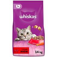 Whiskas granule hovězí pro dospělé kočky 14kg - Granule pro kočky