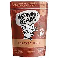 Meowing Heads Top Cat Turkey kapsička 100 g - Kapsička pro kočky