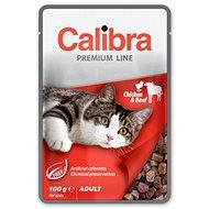 Calibra Cat  kapsa Premium Adult Chicken & Beef 100g - Kapsička pro kočky