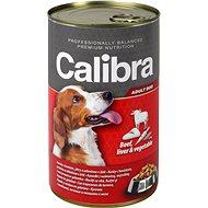Calibra Dog  konzerva hovězí + játra + zelenina v želé 1240g - Konzerva pro psy