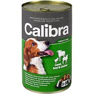 Calibra Dog Canned Lamb + Beef + Chicken in Jelly 1240g - Canned Dog Food