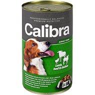Calibra Dog  konzerva jehněčí + hovězí + kuřecí v želé 1240 g - Konzerva pro psy