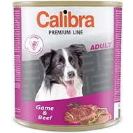 Calibra Dog  konzerva Premium Adult zvěřina + hovězí 800 g - Konzerva pro psy