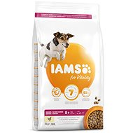 IAMS Dog Senior Small & Medium Chicken 3kg - Granule pro psy