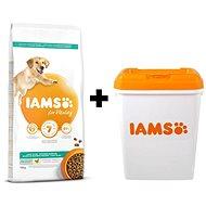 IAMS Dog Adult Weight Control Chicken 12kg + IAMS Dog nádoba na krmivo 15 kg