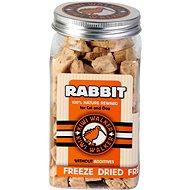Kiwi Walker Mrazem sušený králík, 75 g - Pamlsky pro psy