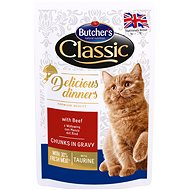 Butcher´s Classic Delicious Dinners with Beef CIG 100g - Cat Food Pouch