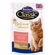 Butcher´s Classic Delicious Dinners with Salmon & Sauce, CIG,  100g - Cat Food Pouch