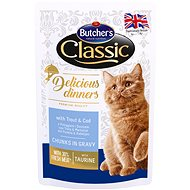 Butcher's Classic Delicious Dinners with Trout and Cod, CIG, 100g - Cat Food Pouch