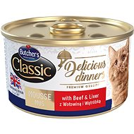 Butcher's Classic Delicious Dinners, Canned Beef and Liver, 85g - Canned Food for Cats