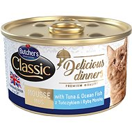 Butcher's Classic Delicious Dinners, Canned Tuna and Sea Fish, 85g - Canned Food for Cats