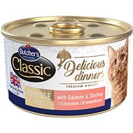 Butcher's Classic Delicious Dinners, Canned Salmon and Shrimp, 85g - Canned Food for Cats