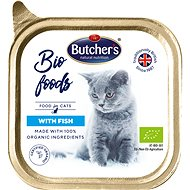 Butcher's Bio Cat Tray with Fish, 85g - Cat Food in Tray