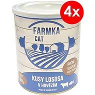 FARMKA CAT 800 g s lososem, 4 ks - Konzerva pro kočky