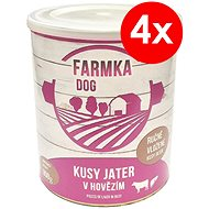 FARMKA DOG with Liver 800g, 4 pcs - Canned Dog Food