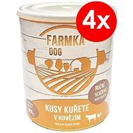 FARMKA DOG 800 g s kuřetem, 4 ks - Konzerva pro psy