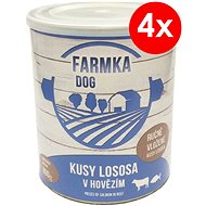 FARM DOG  with Salmon 800g, 4 pcs - Canned Dog Food