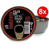 FALCO CAT 120g hovězí kýta, 8ks - Konzerva pro kočky