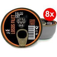 FALCO CAT 120 g losos filet, 8 ks - Konzerva pro kočky