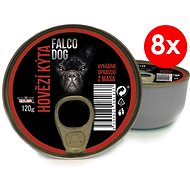 FALCO DOG 120g Beef Hind, 8 pcs - Canned Dog Food