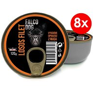 FALCO DOG 120g losos filet, 8ks - Konzerva pro psy