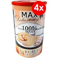 MAX Deluxe 3/4 Chicken with Duck 1200g, 4 pcs - Canned Dog Food