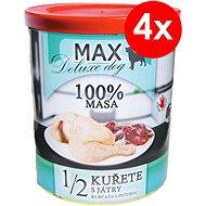 MAX deluxe 1/2 kuřete s játry 800 g, 4 ks