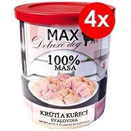 MAX deluxe krůtí a kuřecí svalovina 800 g, 4 ks